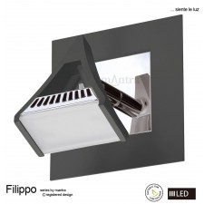 Filippo Spot Light 1 Light LED 5W Black/Chrome 3000K