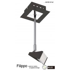 Filippo Extended Spot Light 1 Light LED 5W Black/Chrome 3000K