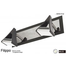 Filippo Spot Light 2 Light LED 10W Black/Chrome 3000K