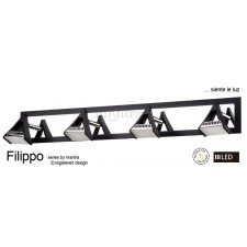 Filippo Spot Light 4 Light LED 20W Black/Chrome 3000K