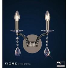 Diyas Fiore Wall Lamp 2 Light Black Chrome