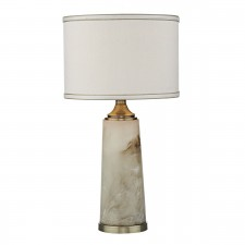 Fisher Table Lamp Alabaster Swirl complete with Shade