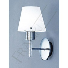 Franklite Turin Wall Light - Chrome, Complete with Opal Glass Shade