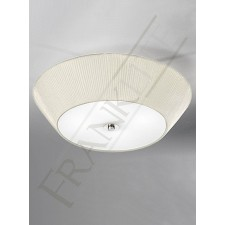 Franklite 600mm Circular Flushmount Shade - Cream Shade, Satin Glass Diffuser