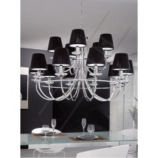 Franklite Carousel Ceiling Light - 15 Light, Chrome, Shades sold Separately
