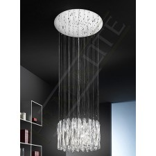 Franklite FL2176/8 Glacial 8 Light Pendant (500mm)