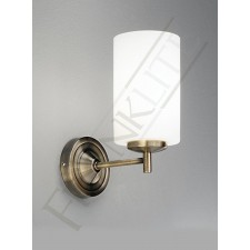 Franklite Decima 1 Light Wall Bracket - Bronze, Complete with Opal Cylinder Glass