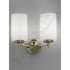 Franklite Decima Double Wall Bracket -2 Light, Bronze, Complete with Opal Cylinder Glass