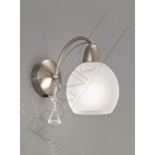 Franklite Thea Single Wall Light - 1 Light, Satin Nickel