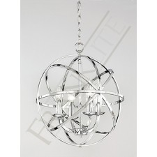Franklite Zany Modern Pendant - 4 Light, Polished Chrome