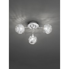 Franklite FL2329/3 Protea 3-Light Ceiling Flush