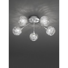 Franklite FL2329/5 Protea 5-Light Ceiling Flush