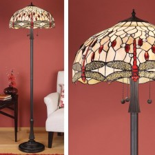 Interiors1900 Beige Dragonfly Floor Lamp