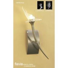 Flavia Wall Lamp 1 Light Antique Brass