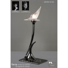 Flavia Table Lamp 1 Light Black Chrome