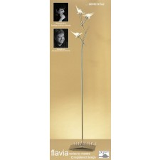 Flavia Floor Lamp 3 Light Antique Brass