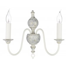 Flemish Wall Light - 2 Light, Distressed Cream
