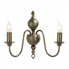 Flemish Wall Light - 2 Light Matt Bronze