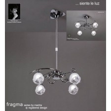 Fragma Pendant 4 Light Polished Chrome