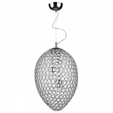 Frost 3 Light Pendant Light - Polished Chrome