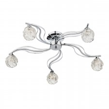 Fuego 5 Light Semi Flush Polished Chrome