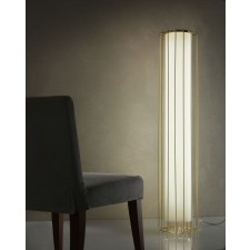 Futura Floor Lamp - Brass, Ivory Shade