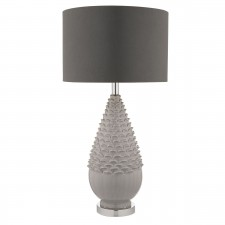 Gael Base Only Table Lamp Grey Ceramic
