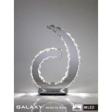 Diyas Galaxy D Shape Table Lamp Light 3600K 36X0.5W LED Chrome/Crystal