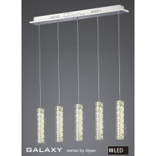 Diyas Galaxy 5 Drop Pendant 3600K 30X0.5W LED Chrome/Crystal