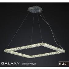 Diyas Galaxy Large Square Pendant 3600K 72X0.5W LED Light Chrome/Crystal