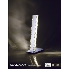 Diyas Galaxy Table Lamp 3600K 6X0.5W LED Light Chrome/Crystal