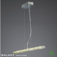Diyas Galaxy Linear Pendant 3600K 36X0.5W LED Chrome/Crystal