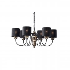 Garbo Ceiling Light - 6 Light Bronze/Black