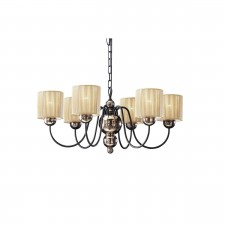 Garbo Ceiling Light - 6 Light Bronze/Gold