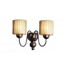 Garbo Wall Light - 2 Light Bronze/Gold