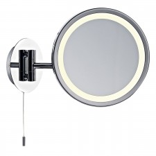 Gibson Illuminated Magnifying Mirror - IP44 Polished Chrome
