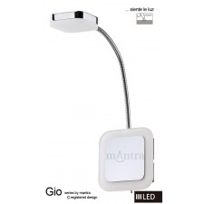 Gio Spot Light 1 Light Flexible Square LED 3W Chrome 3000K