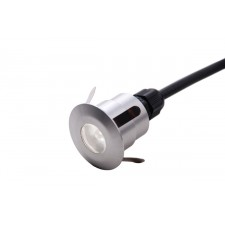 Garden Zone GZ/FUSION11 Fusion Plain push in, in ground deck light - brushed/Machine Aluminium
