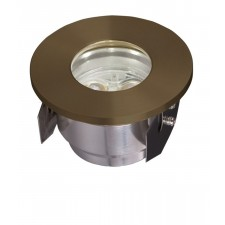 Garden Zone GZ/FUSION2 Fusion Plain ring in-ground light - Natural Solid Brass