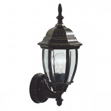 Hambro Wall Lantern - Up Lantern Black/Gold