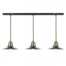 Dar Hannover 3-Light Bar Pendant Black