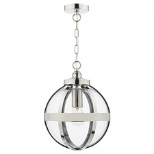Heath 1 Light Pendant Polished Nickel