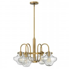 Hinkley HK/CONGRES4/B BC Congress Clear Glass Chandelier