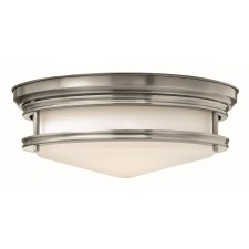 Hinkley Lighting HK/HADLEY/F AN Hadley 3 - Light Flush Light Antique Nickel