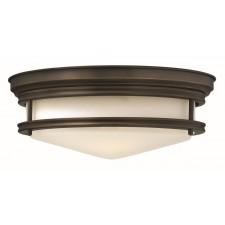 Hinkley Lighting HK/HADLEY/F OZ Hadley 3 - Light Flush Light Oil Rubbed Bronze