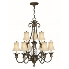Hinkley Lighting HK/PLANT10 PZ Plantation 10 - Light Chandelier Pearl Bronze