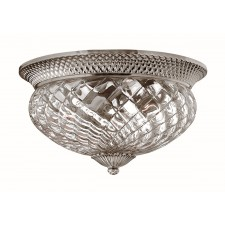 Hinkley Lighting HK/PLANT/F/L PL Plantation 3 - Light Large Flush Light Polished Antique Nickel