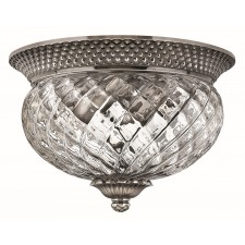 Hinkley Lighting HK/PLANT/F/S PL Plantation 2 - Light Small Flush Light Polished Antique Nickel