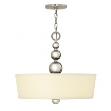 Hinkley Lighting HK/ZELDA/P/B PN Zelda 3 - Light Chandelier Polished Nickel