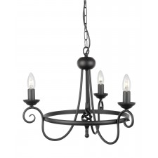 Elstead HR3A BLACK Harlech 3 - Light Chandelier Black